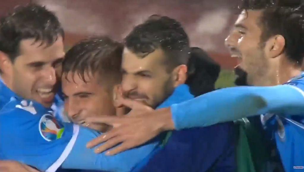 Radość piłkarzy San Marino ze zdobycia bramki