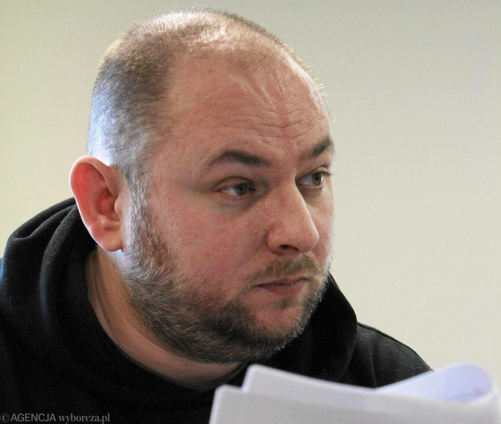 Piotr Wielgucki ps. Matka Kurka - podczas rozprawy w Złotoryi