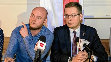 Wszechpolak Hubert Jach i poseł Robert Winnicki