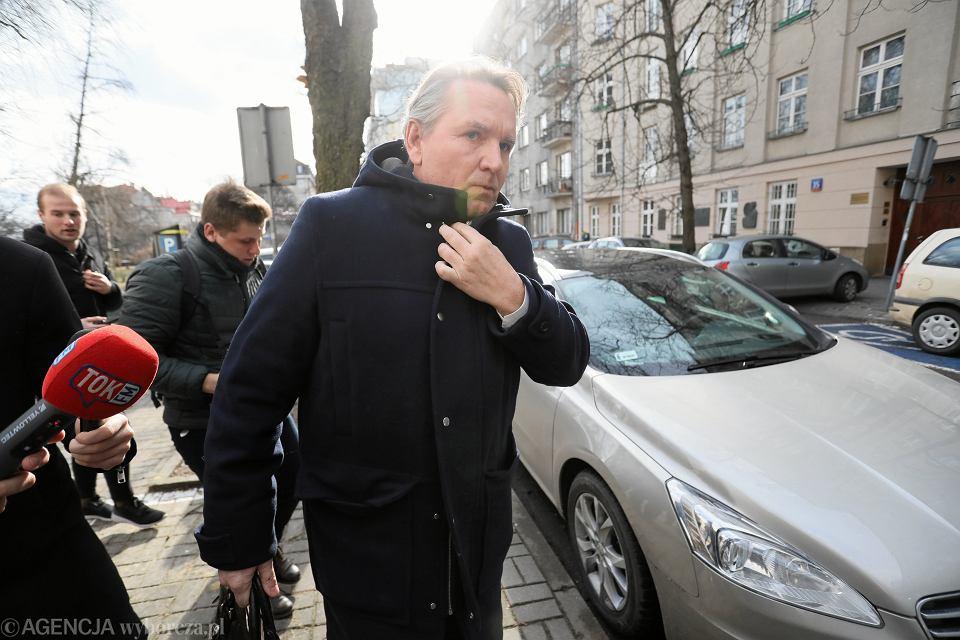 Gerald Birgfellner w Prokuraturze,  Warszawa 11.02.2019.