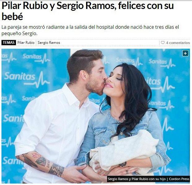 Sergio Ramos z rodziną
