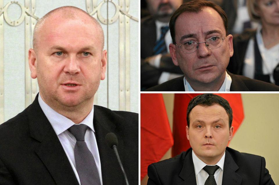 Paweł Wojtunik  (z lewej)  miał przed sobą jeszcze dwa lata  na stanowisku szefa CBA.  Nowy koordynator służb Mariusz Kamiński  (powyżej z lewej)  i politycy PiS uznali go za wroga,  bo doniósł do prokuratury o łamaniu prawa przy operacjach specjalnych CBA za czasów Kamińskiego. No wy szef ABW Piotr Pogonowski  (powyżej z prawej)  chciał pozbawić go certyfikatu dostępu do tajemnic państwowych i tak pozbawić stanowiska przed upływem kadencji
