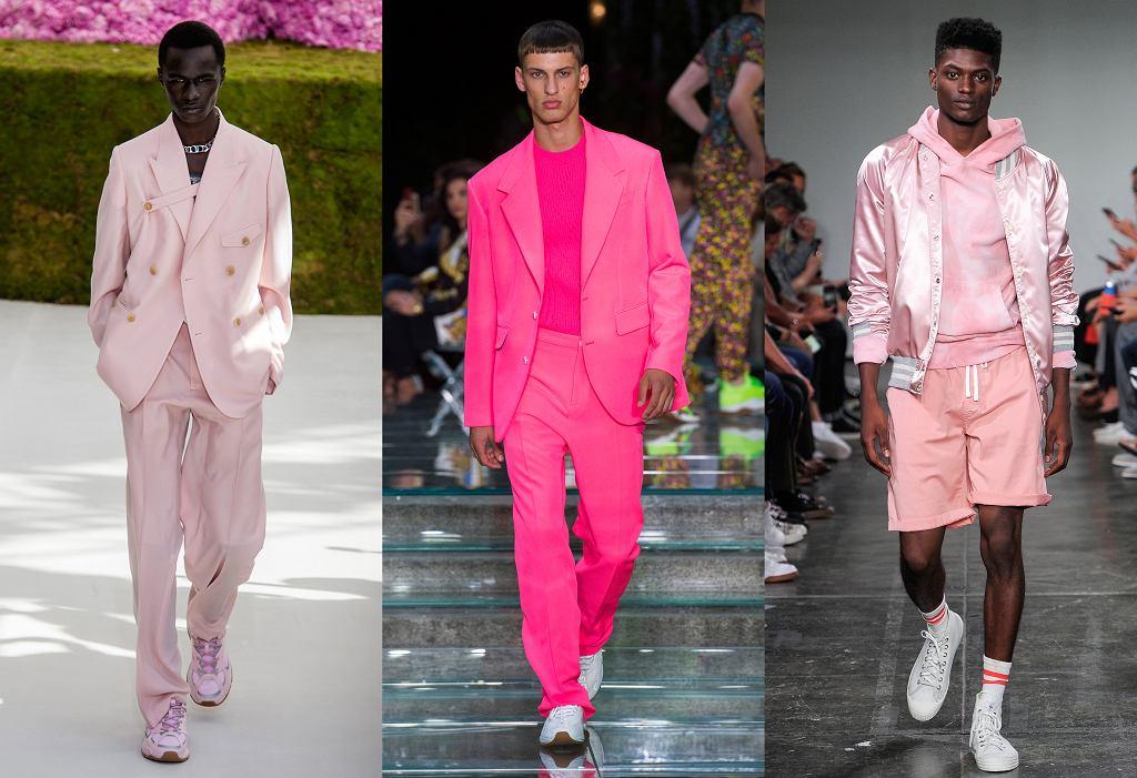 Róż w męskich kolekcjach: Dior / Versace / Todd Snyder wiosna 2019