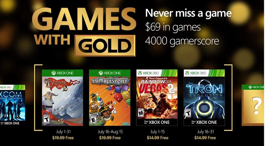 Games with Gold: oferta gier na lipiec 2016 [Xbox One, Xbox 360]