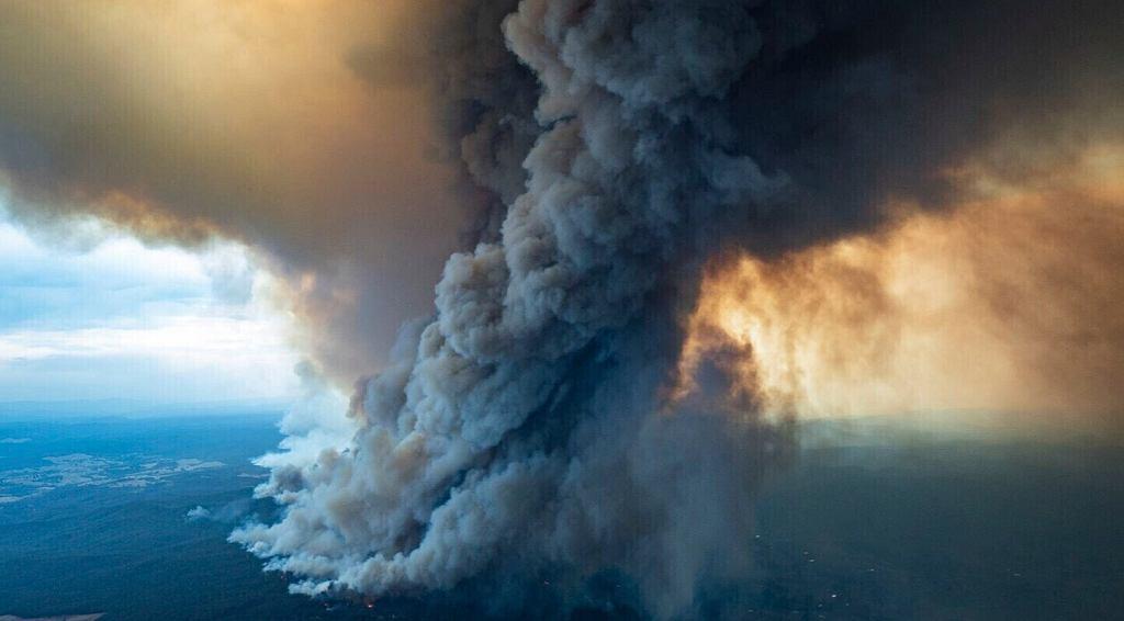 Pożary w Australii. Zdjęcie z 2 stycznia