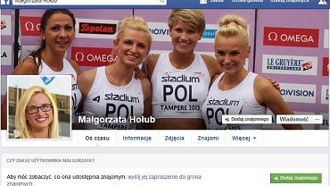 Facebook Małgorzaty Hołub