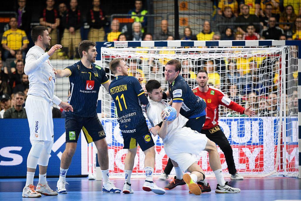 Goteborg, 14 stycznia 2020. Mistrzostwa Europy w piłce ręcznej. grupa F. Mecz Polska - Szwecja (26:28)