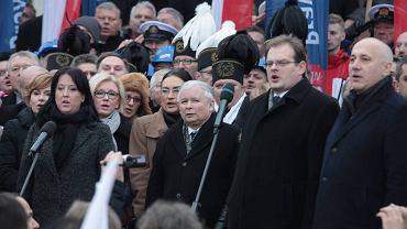 Jarosław Kaczyński na początku Marszu PiS