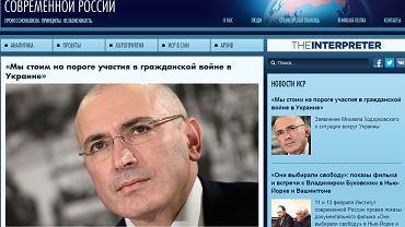 Michaił Chodorkowski o sytuacji na Ukrainie