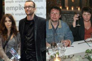 Tomasz Kot z żoną Agnieszką i Dorota Wellman z mężem Krzysztofem