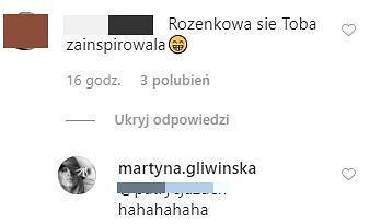 Martyna Gliwińska na Instagramie