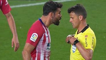Diego Costa otrzymał czerwoną kartkę w meczu FC Barcelona - Atletico Madryt