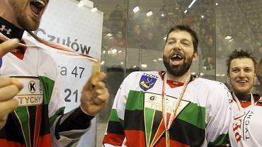 Hokeiści GKS-u Tychy znowu chcą się cieszyć z mistrzostwa. Na zdjęciu feta w 2015 r.