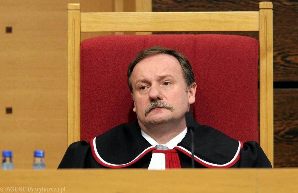 Posiedzenie Trybunału Konstytucyjnego, sędzia Piotr Pszczółkowski (fot. Sławomir Kamiński/AG)