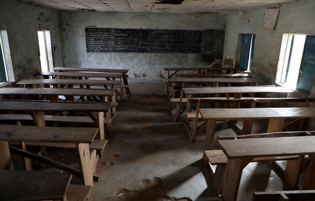 Nigeria. Szkoła po ataku uzbrojonych mężczyzn