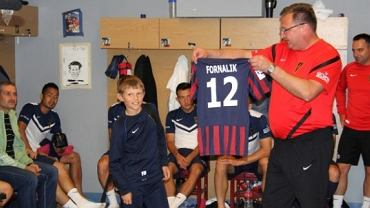Dawid Fornalik i trener Czesław Michniewicz