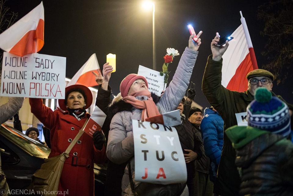 Protest w obronie wolnych sądów, Lublin