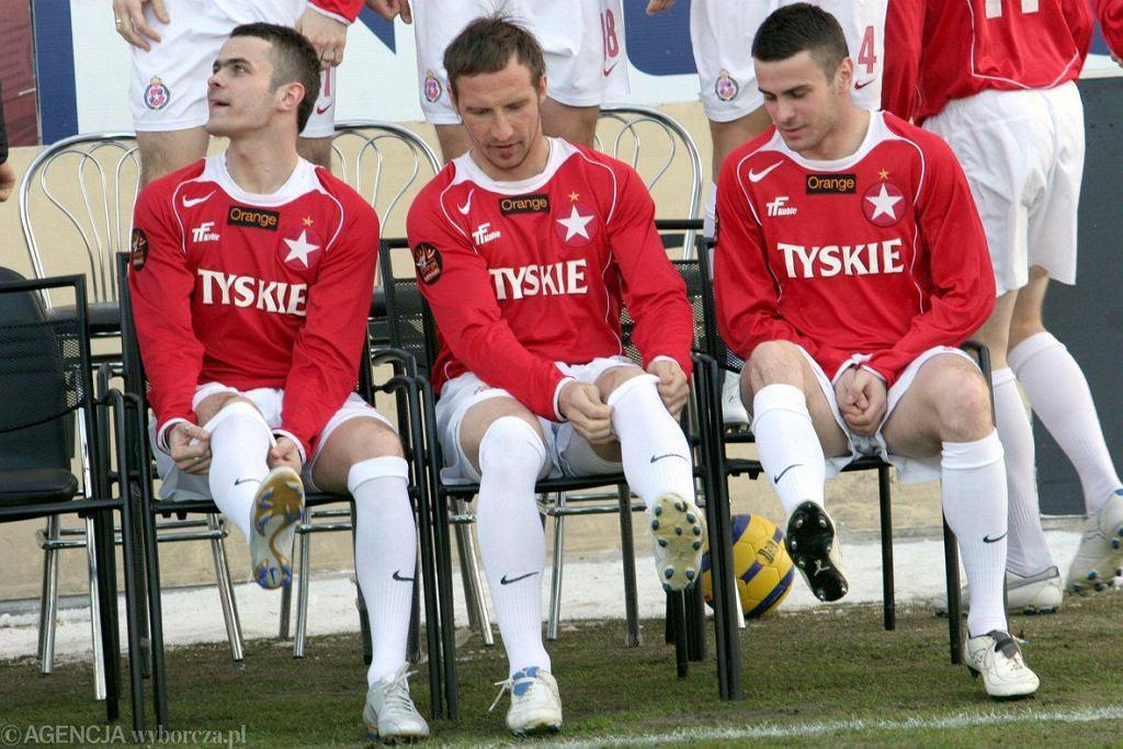 Paweł Brożek (z lewej), Maciej Stolarczyk i Piotr Brożek. W 2006 roku byli gwiazdami wielkiej Wisły