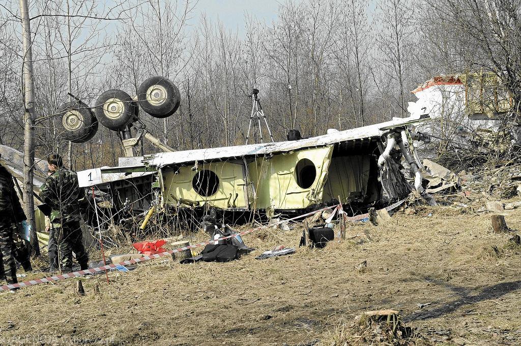 Wrak samolotu po katastrofie smoleńskiej