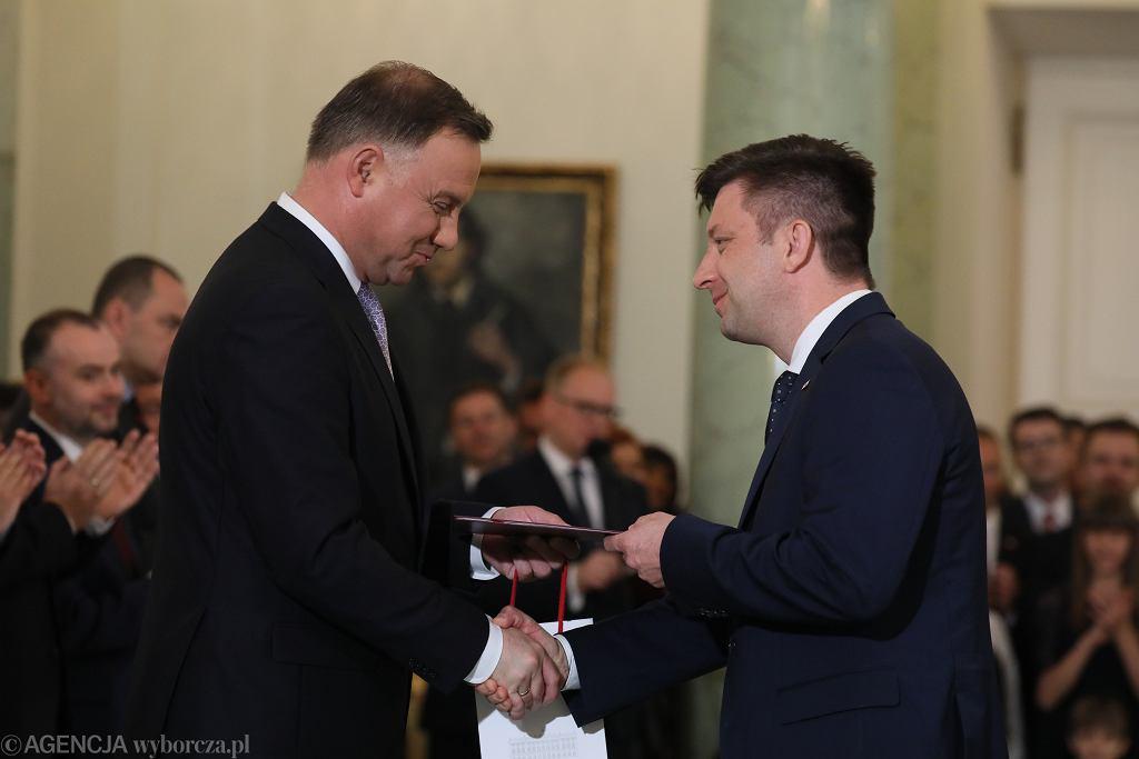 Andrzej Duda i Michał Dworczyk. Rekonstrukcja rządu po wyborach do PE