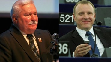 Lech Wałęsa i Jacek Kurski