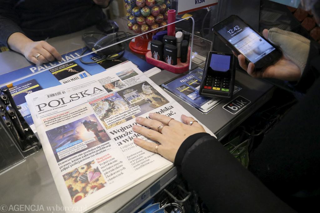 Dziennik ''Polska Times'' wydawany przez grupę Polska Press wykupioną przez koncern Orlen