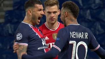 Neymar i Leandro Paredes celebrujący gola przed Joshuą Kimmichem
