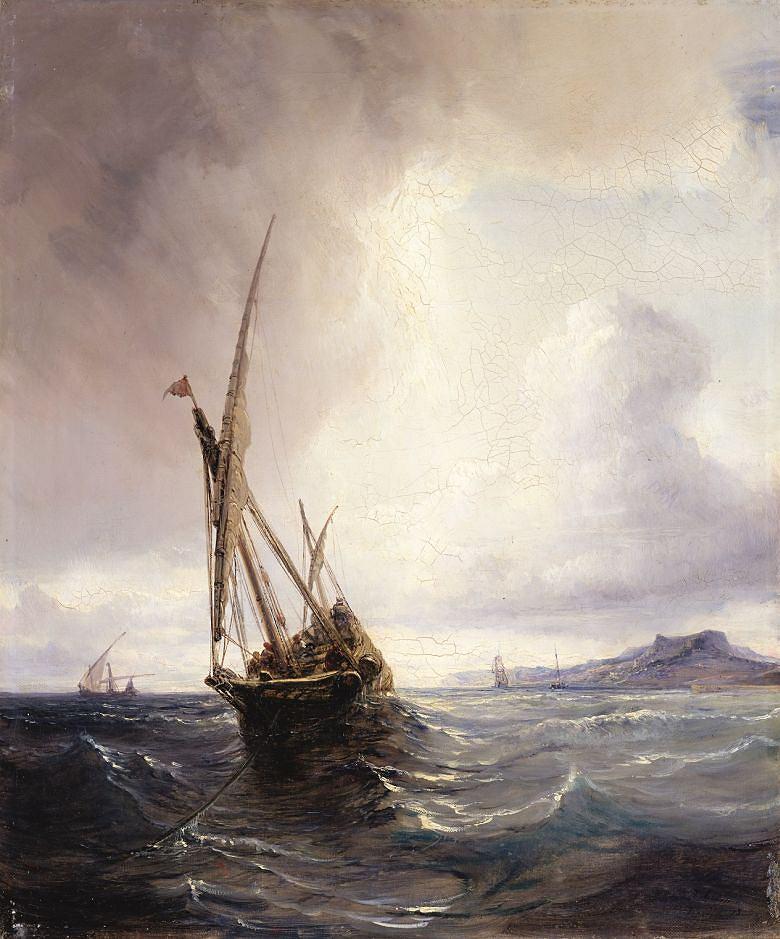 Théodore Gudin, Przemytnicz feluka w Zatoce Biskajskiej, 1845 / Materiały prasowe