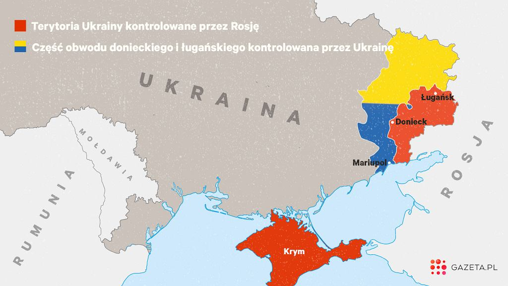 Kontrolowane przez separatystów terytorium na wschodzie Ukrainy jest stosunkowo niewielkie