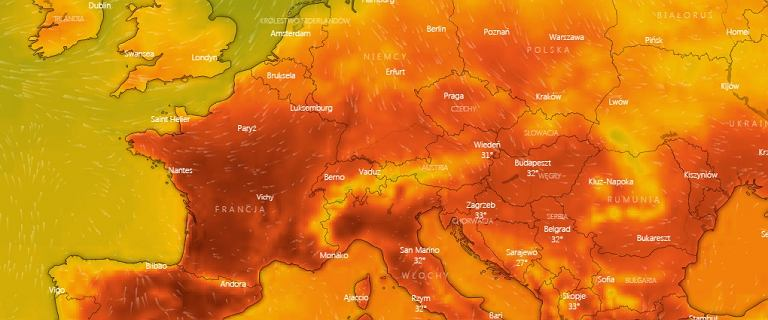 W Europie afrykańskie upały do 40 st. C. Fala gorąca sunie do Polski