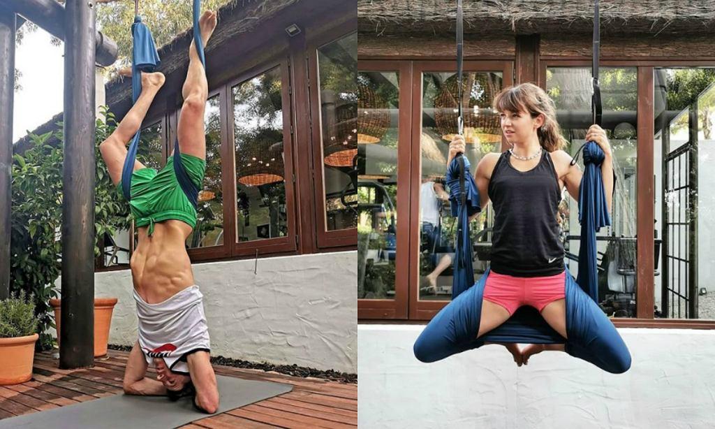 Anna Lewandowska z Robertem wybrali nietypowy trening. Na czym polega Aero joga?