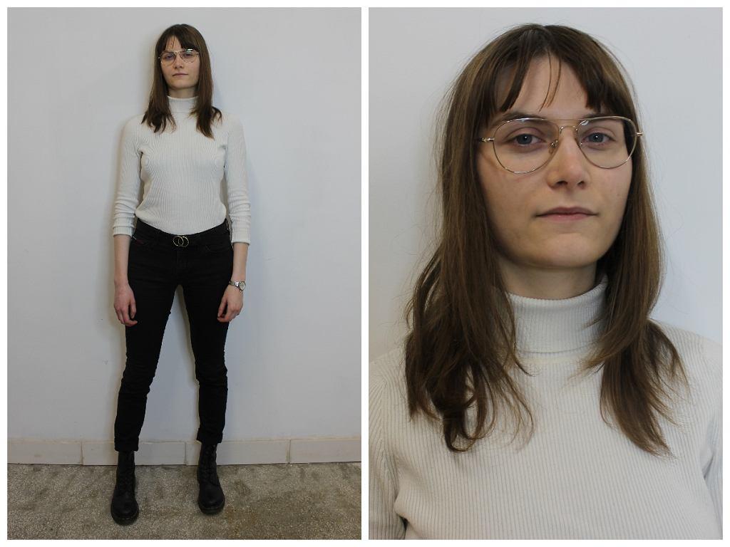 Monika, bohaterka metamorfozy Avanti24, przed przemianą