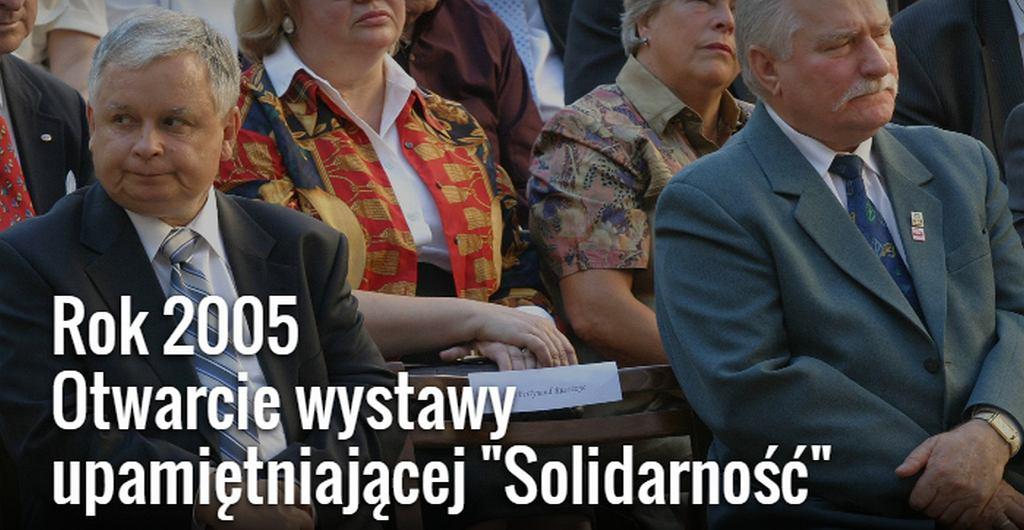 Prezydenci Lech Wałęsa i Lech Kaczyński
