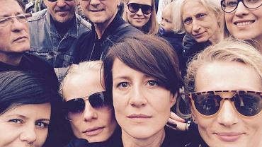 Aktorzy na proteście Ratujemy Kobiety