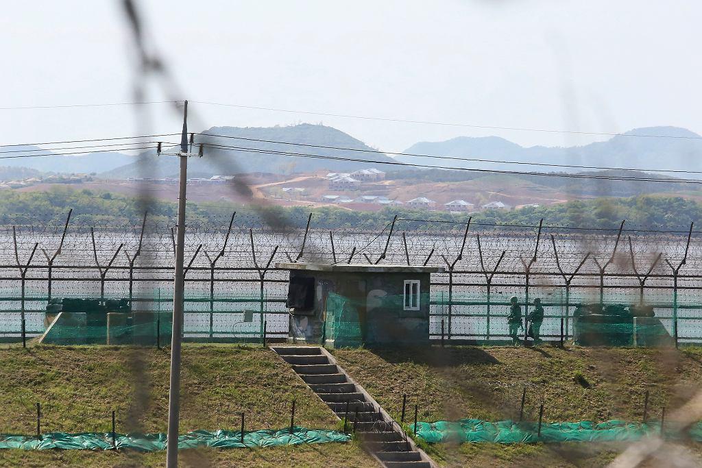 Granica Korei Północnej i Korei Południowej (zdjęcie ilustracyjne)