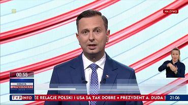 Władysław Kosiniak-Kamysz podczas Debaty Prezydenckiej w TVP