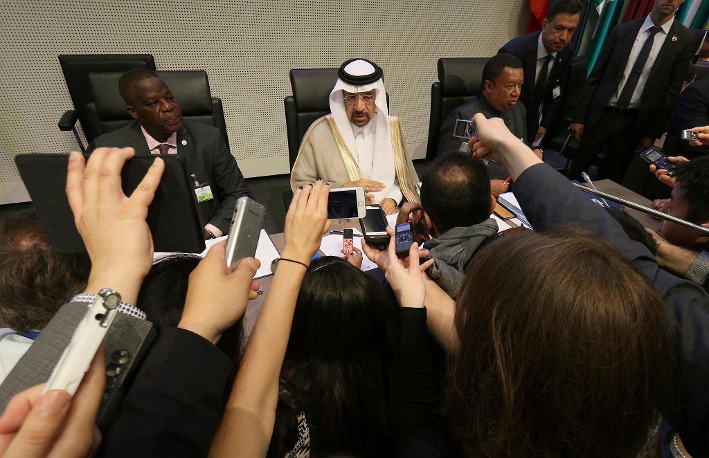 Spotkanie OPEC w Wiedniu. Na zdjęciu Khalid Al-Falih, saudyjski minister energii, przemysłu i zasobów mineralnych.
