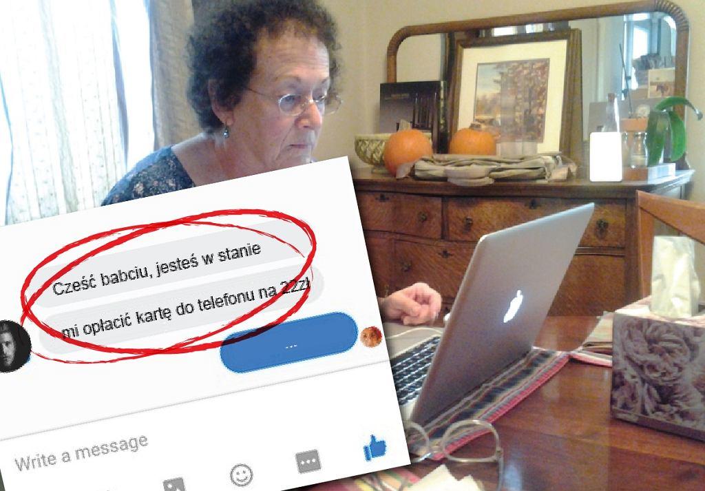 Cyberprzestępcy stosują metodę 'na wnuczka' w internecie. Można stracić wszystkie oszczędności