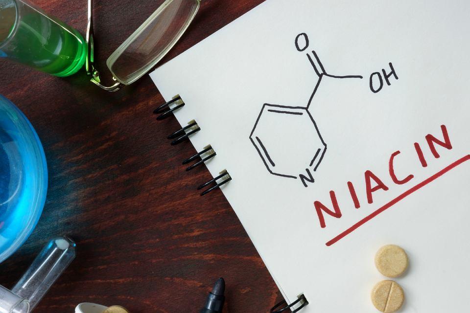 Niacynamid, zwany witaminą B3 lub nicyną