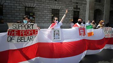 Protest białoruskiej społeczności
