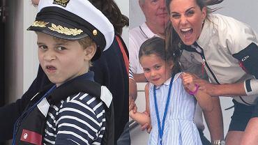 Księżna Kate i księżniczka Charlotte, książę George