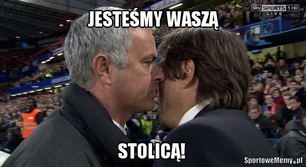 Zdjęcie numer 1 w galerii - Co powiedział Mourinho Conte po końcowym gwizdku? Portugalczyk wyśmiewany [MEMY]