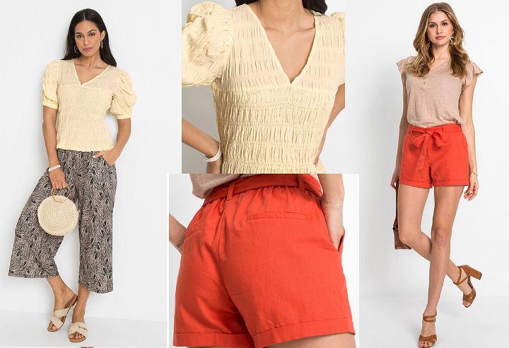 Kolorowe ubrania na lato