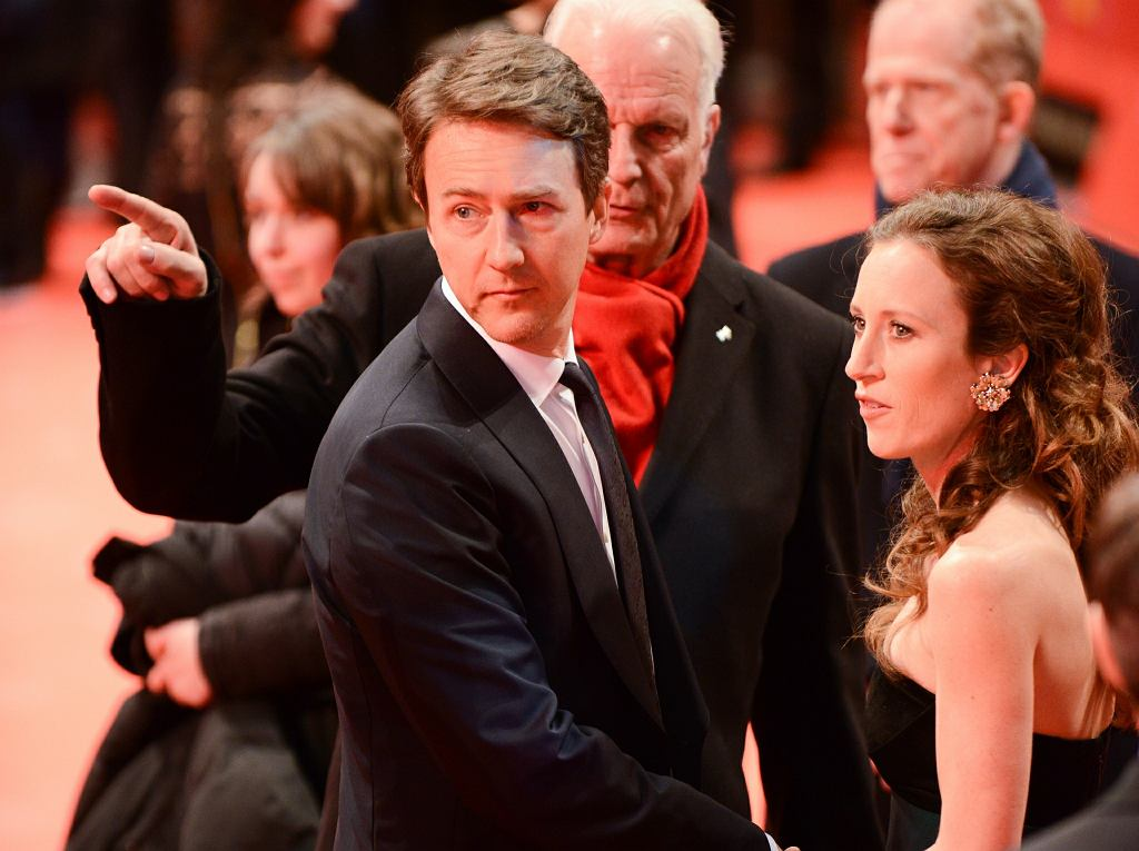 Edward Norton podczas Berlinale 2014