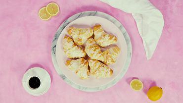 Rogaliki serowe z lukrem cytrynowym