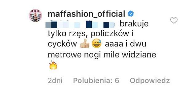 Komentarz Maffashion