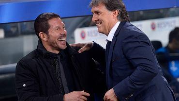 Diego Simeone i Gerardo Martino byli przed spotkaniem w znakomitych humorach