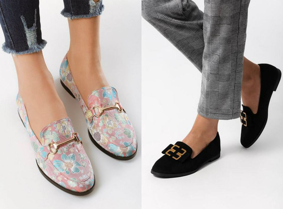 Eleganckie buty na płaskiej podeszwie do 80zł