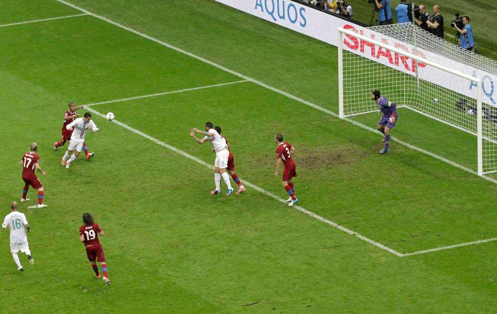 Murawa na Stadionie Narodowym podczas meczu Portugalia - Czechy