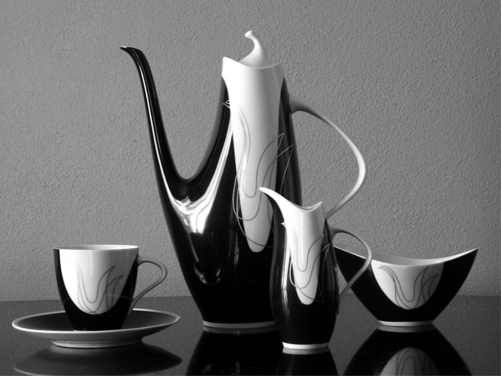 Serwis kawowy Ježka 'Elka'. Wystawa czechosłowackiego dizajnu / materiały prasowe